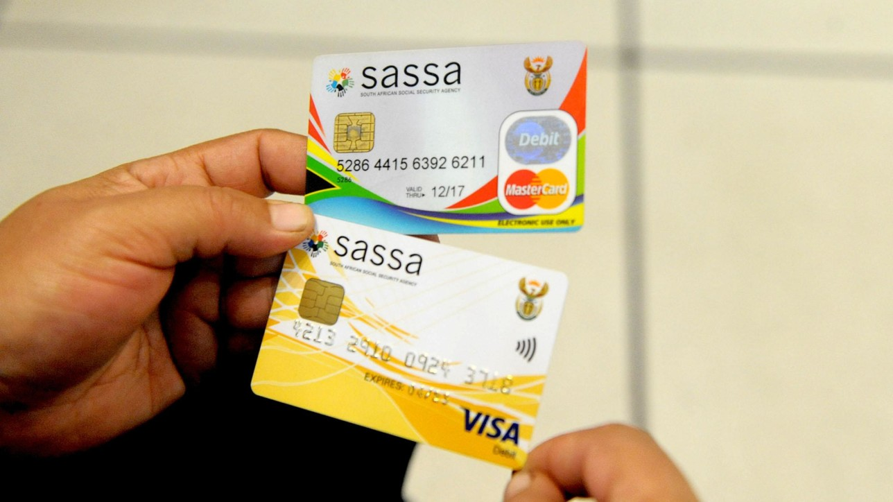 The South African Social Security Agency (Sassa) are ready for pay up grants after changing the system with the new cards , the new gold cards could be used at ATMs, post offices and merchant stores. Picture: Nokuthula Mbatha/ANA